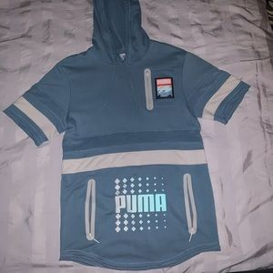PINK DOLPHIN X PUMA SHORT SLEEVE DRY CELL HOODIE